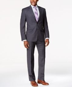 Shaquille O'Neal Collection Big and Tall Charcoal Suit Separates, Only at Macy's…