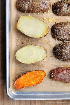 This quick and easy way to bake potatoes will have you making baked potatoes at home more often. Its so easy! shewearsmanyhats.com