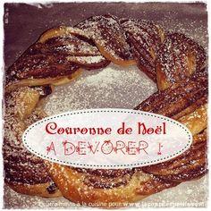 recette couronne noel chocolat