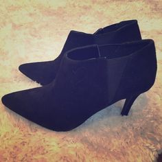 """Jessica Simpson booties Black suede pointy toes ankle booties. Never worn. 3"""" heel Jessica Simpson Shoes Ankle Boots & Booties"""