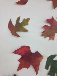 crayon melt leaves...simply beautiful!