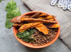 Sweet Potato, Lentil and Spinach Bowl - Madeleine Shaw