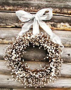 white winter wreaths