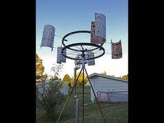 DIY Wind-Powered Water Pump. Cata-Vento com Bomba de Agua. - YouTube
