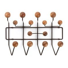 Hang it all in walnut/brown by Vitra | Master Meubel, design meubelen en interieur inrichting