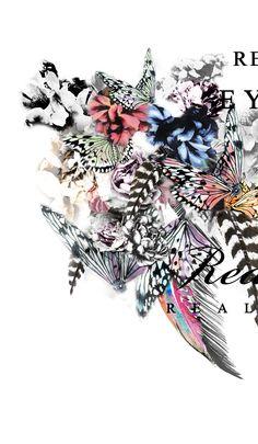 Print Butterflies. Bershka. Mamen Romero