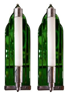 Pair of Art Deco Wall Lights with Deep Emerald Base Pair of Art Deco Wall Lights with Deep Emerald Base Art Deco Decor, Art Deco Lamps, Art Deco Design, Decoration, Art Deco Wall Lights, Art Deco Lighting, Antique Lighting, Lighting Ideas, Art Nouveau