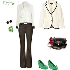 Office look, created by karina-villagra on Polyvore