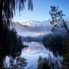 Lake Matheson taking our breathe away AGAIN! photo credit: @nzmagz #westcoastnz New Zealand #newzealand