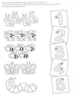Crafts,Actvities and Worksheets for Preschool,Toddler and Kindergarten.Lots of worksheets and coloring pages. Printable Preschool Worksheets, Kindergarten Math Worksheets, Preschool Learning Activities, Worksheets For Kids, Preschool Activities, Teaching Kids, Kids Learning, Numbers Preschool, Learning Numbers