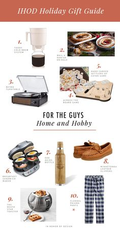 For the Guys: 30+ Gifts for Outdoors, Travel, and Home