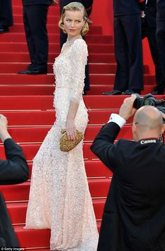 Eva Herzigova at the screening of Moonrise Kingdom by Wes Anderson in Cannes