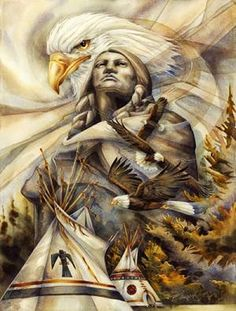 Eagles and Native American Indians Native American Paintings, Native American Wisdom, Native American Pictures, Native American Beauty, Indian Pictures, American Indian Art, Native American Tribes, Native American History, Native Americans