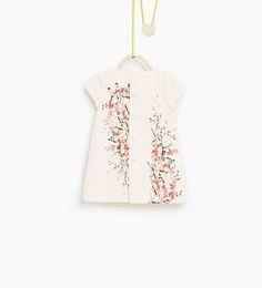 ZARA - DZIECI - Sukienka żakardowa w kwiaty