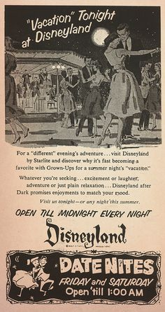 1950sunlimited: Fecha Nite en el Disneyland de 1957 miehana