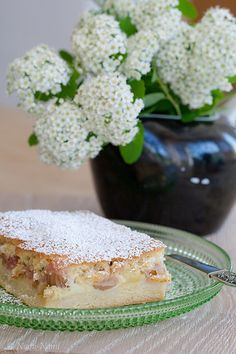 Estonian rhubarb cake - made it with plums and it is brilliant.