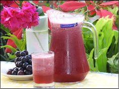 Prepare una refrescante gaseosa natural de uva - e-Consejos Hurricane Glass, Natural, Tableware, Youtube, Soft Drink, Fruit, Tips, Cooking, Dinnerware
