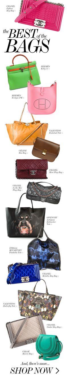 THE BEST OF THE BAGS // Chanel Boy Bag, Hermès Evelyne, Valentino Tote, Givenchy Antigona, Stella McCartney Falabella, Chloe Marcie, Chanel Classic Flap Bag & more!