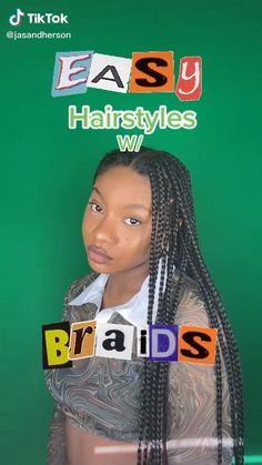 Cute Box Braids Hairstyles, Box Braids Hairstyles For Black Women, Braids Hairstyles Pictures, Twist Braid Hairstyles, African Braids Hairstyles, Braids For Black Hair, Protective Hairstyles, Easy Hairstyles, Black Hairstyles