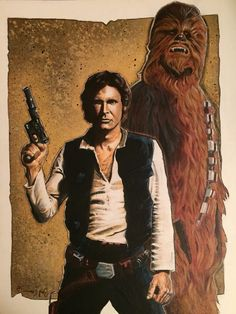 Han Solo and Chewbacca by Gary Enerson #starwars #art
