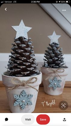 Potted Christmas Trees, Pine Cone Christmas Tree, Christmas Ornament Crafts, Christmas Projects, Holiday Crafts, Christmas Holidays, Christmas Decorations, Flower Pot Crafts, Tree Crafts