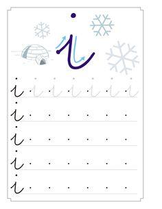 fichas vocal i - Buscar con Google Letter O Worksheets, Preschool Number Worksheets, Cursive Writing Worksheets, Handwriting Activities, Preschool Letters, Preschool At Home, Worksheets For Kids, Kindergarten Activities, Activities For Kids