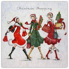 Christmas Shopping , Ladies Who Love Life ... Berni Parker funny cute Berni Parker Designs