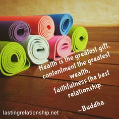 Health is the greatest gift, contentment the greatest wealth, faithfulness the best relationship. Contentment, Best Relationship, Wealth, Buddha, Motivational Quotes, Great Gifts, Good Things, Inspiration, Motivational Life Quotes
