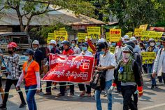 Location: Mandalay #whatshappeninginmyanmar #savemyanmar #peacefulprotest #genzprotest #smartprotest #threefingersalute #hearthevoicesofmyanmar #massiveprotest Peaceful Protest, Mandalay, The Voice, Military, Shit Happens, Military Man, Army