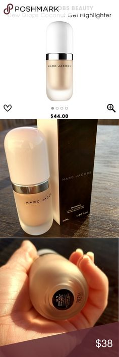 Brand New Marc Jacobs Dew Drops Highlighter What it is:? A lightweight, coconut-infused gel highlighter that can be applied to skin directly or added into foundation or primer for a universally flattering glow.? Marc Jacobs Makeup Luminizer
