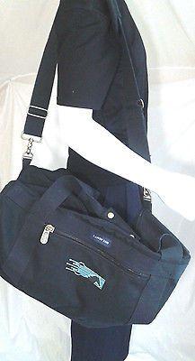 Lands  End Cotton Canvas Duffel Bag Weekender Carry-On 21