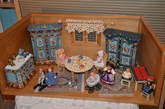 antike Bauernmöbel Bauernmalerei Puppenstube Schildkröt Käthe Kruse Puppe in Antiquitäten & Kunst, Antikspielzeug, Puppen & Zubehör, Puppenstuben & -häuser, Original, gefertigt vor 1970   eBay