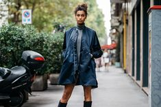 Milan Fashion Week — The Locals – Street Style from Copenhagen and elsewhere Egyptian Models, Models Off Duty, The Locals, Cool Kids, Style Icons, Street Wear, Womens Fashion, Net Fashion, Milan Fashion