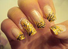 Mimosa yellow accent dotticure ; nail art festa della donna #women #love #respect #floral #woman #dots dotting tool