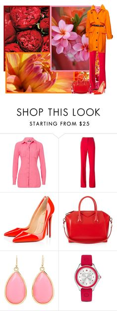 """""""Bright colors for spring!"""" by asia-12 ❤ liked on Polyvore featuring Olsen, Emilio Pucci, Burberry, Christian Louboutin, Givenchy, Kate Spade and Michele"""