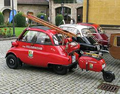 Feuerwehr-Isetta Isetta Jahrestreffen in Rödental bei Coburg Bmw Isetta, Ambulance, Automobile, Ducati, Mercedes Truck, Microcar, Miniature Cars, Fire Equipment, Rescue Vehicles