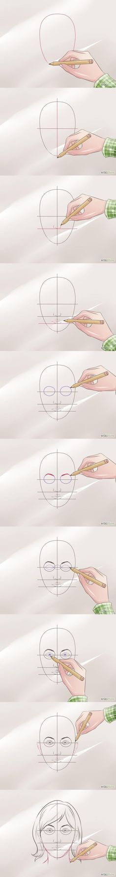 How to draw a face Step by step tutorial Wikihow #draw #face #drawing #how to by JenJennn