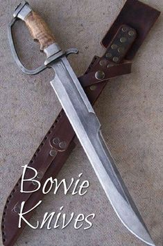 D-guard machete Thread: Primitive d-guard duelling bowie knife for sale Swords And Daggers, Knives And Swords, Katana, Bowie Knife For Sale, Steampunk Accessoires, Trench Knife, La Forge, Cool Knives, Pretty Knives