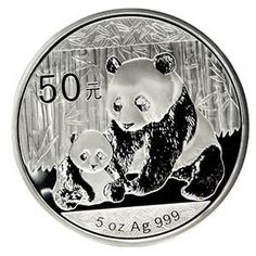 This large Chinese Panda coin contains a full 5 troy oz of fine Silver and comes complete with the mint-issued box and a certificate of authenticity. This one will draw attention in any Silver Panda collection!