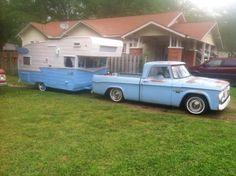 old, vintage, travel trailer, camper, truck. www.HelpSellMyRV.com  Louisville Kentucky