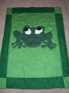 Frog baby quilt. Shanti Riana 2009