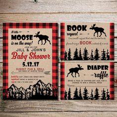 Moose Baby Shower rustic baby shower Hunting by BigSkyDesignLLC