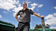 Walking tall: Lleyton Hewitt at Kooyong on Tuesday - ''I feel like I can still compete against the best guys.''