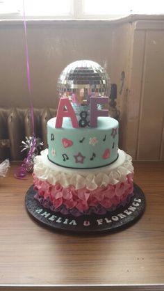 Girls Disco cake with disco ball