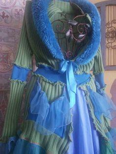 Women's Upcycled Fairy coat / fairy jacket / pixie coat /