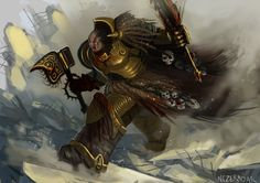 Angron, the primarch of the World Eaters by Nezermoar on DeviantArt
