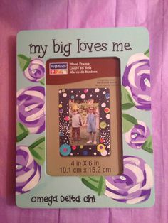 i love my big sis picture frame sorority by peacelovekappa on Etsy, $6.00