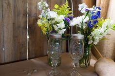 Chandeliers And Lights Barn Wedding - Rustic Wedding Chic Wedding Jars, Farm Wedding, Rustic Wedding, Dream Wedding, Wedding Ideas, Beautiful Farm, Mason Jar Wine, Event Styling, Craft Items
