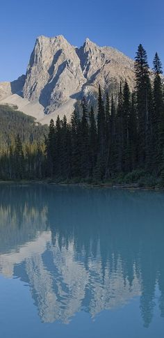 Emerald Lake and Mt. Burgess in Yoho National Park ~ Rocky Mountains of British Columbia, Canada • photo: Taylor S. Kennedy on Fine Art America