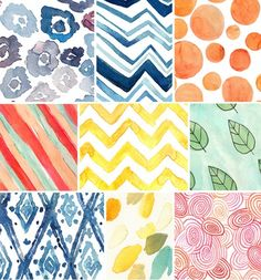Beautiful watercolor background patterns